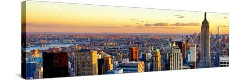 Empire State Building and One World Trade Center at Sunset, Midtown Manhattan, New York City-Philippe Hugonnard-Stretched Canvas Print