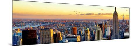 Empire State Building and One World Trade Center at Sunset, Midtown Manhattan, New York City-Philippe Hugonnard-Mounted Photographic Print