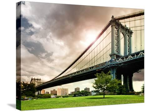 Manhattan Bridge of Brooklyn Park, Manhattan, New York, United States-Philippe Hugonnard-Stretched Canvas Print