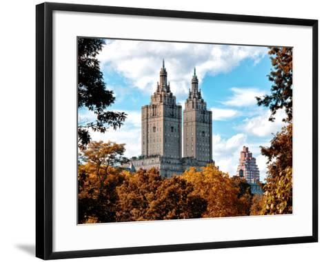 The San Remo Building in the Fall, Central Park, Manhattan, New York, United States-Philippe Hugonnard-Framed Art Print