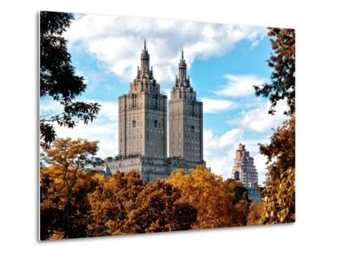 The San Remo Building in the Fall, Central Park, Manhattan, New York, United States-Philippe Hugonnard-Metal Print