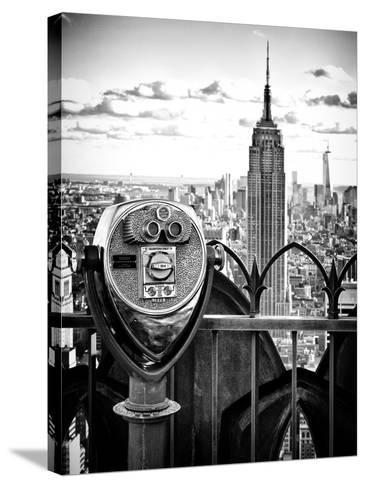 Telescope on the Obervatoire Deck, Top on the Rock at Rockefeller Center, Manhattan, New York-Philippe Hugonnard-Stretched Canvas Print