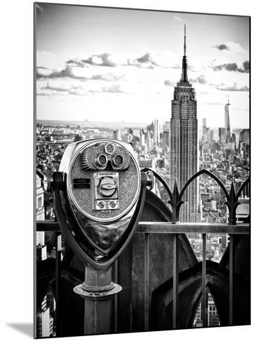 Telescope on the Obervatoire Deck, Top on the Rock at Rockefeller Center, Manhattan, New York-Philippe Hugonnard-Mounted Photographic Print