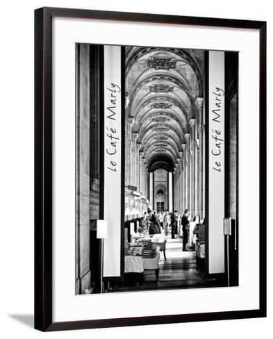 Modern Brewery, Cafe Marly, the Louvre Museum, Glass Pyramids, Paris, France-Philippe Hugonnard-Framed Art Print