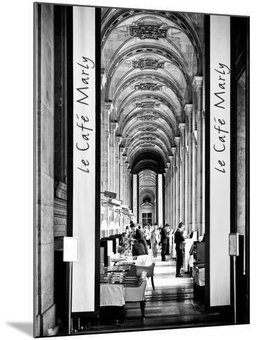 Modern Brewery, Cafe Marly, the Louvre Museum, Glass Pyramids, Paris, France-Philippe Hugonnard-Mounted Photographic Print