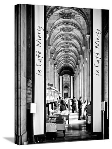 Modern Brewery, Cafe Marly, the Louvre Museum, Glass Pyramids, Paris, France-Philippe Hugonnard-Stretched Canvas Print
