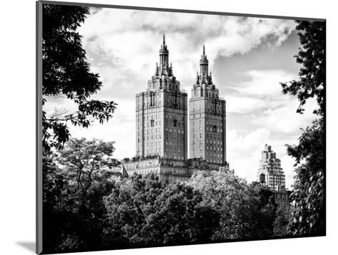 The San Remo Building, Central Park, Manhattan, New York, Black and White Photography-Philippe Hugonnard-Mounted Photographic Print