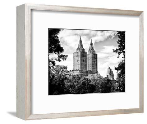 The San Remo Building, Central Park, Manhattan, New York, Black and White Photography-Philippe Hugonnard-Framed Art Print