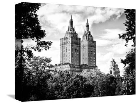 The San Remo Building, Central Park, Manhattan, New York, Black and White Photography-Philippe Hugonnard-Stretched Canvas Print