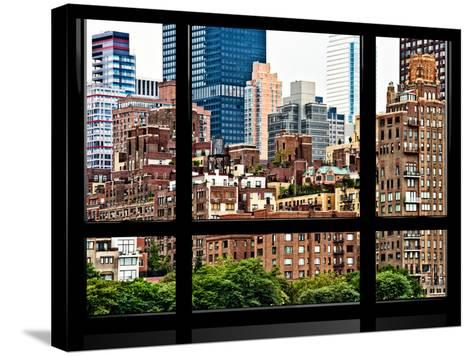 Window View, Special Series, Sutton Place District, Downtown Manhattan, New York-Philippe Hugonnard-Stretched Canvas Print