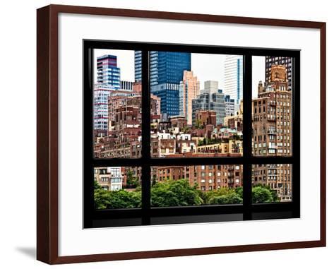 Window View, Special Series, Sutton Place District, Downtown Manhattan, New York-Philippe Hugonnard-Framed Art Print