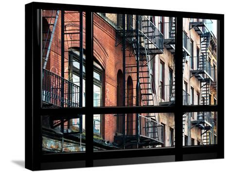 Window View, Special Series, Building Architecture, Manhattan, New York, United States-Philippe Hugonnard-Stretched Canvas Print