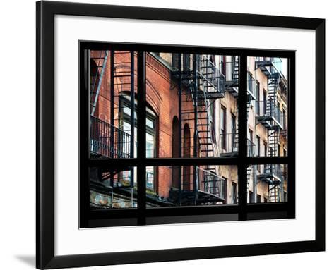 Window View, Special Series, Building Architecture, Manhattan, New York, United States-Philippe Hugonnard-Framed Art Print