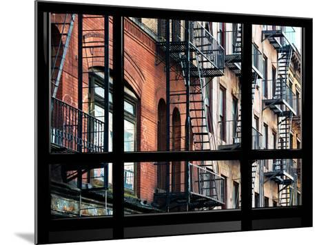 Window View, Special Series, Building Architecture, Manhattan, New York, United States-Philippe Hugonnard-Mounted Photographic Print
