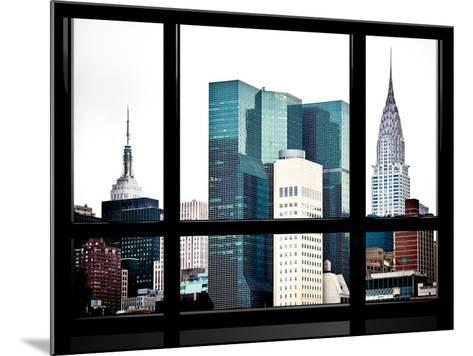 Window View, Special Series, Empire State Building and Chrysler Building Tops, Manhattan, New York-Philippe Hugonnard-Mounted Photographic Print