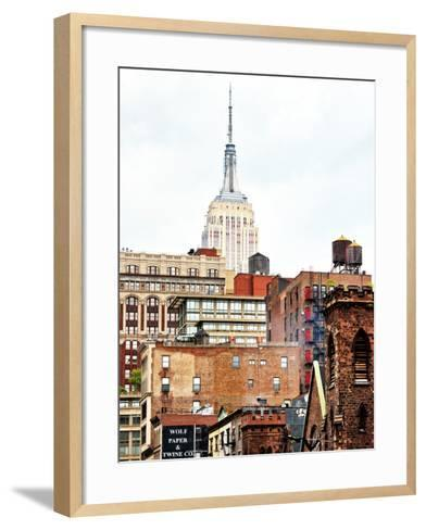 Architecture and Buildings, Empire State Building, Midtown Manhattan, New York City, United States-Philippe Hugonnard-Framed Art Print