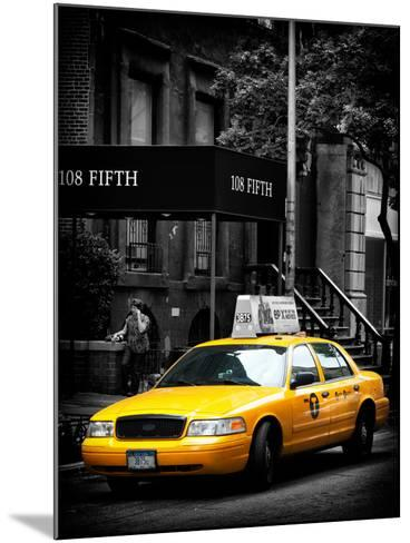 Yellow Taxis, 108 Fifth Avenue, Flatiron, Manhattan, New York City, Black and White Photography-Philippe Hugonnard-Mounted Photographic Print