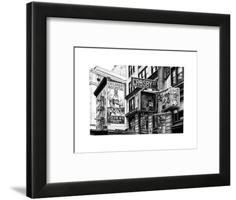 "Urban Scene, Wall Advertising ""Childrens Hospital"", Crosby Street, Broadway, Manhattan, NYC-Philippe Hugonnard-Framed Art Print"