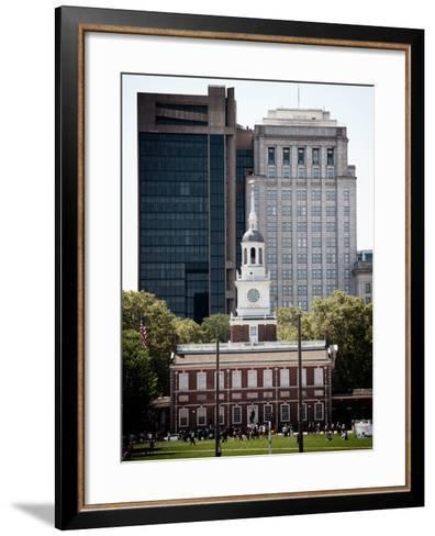 Independence Hall and Pennsylvania State House Buildings, Philadelphia, Pennsylvania, US-Philippe Hugonnard-Framed Art Print