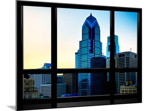 Window View, Special Series, Sunset Philly Skyscrapers View, Philadelphia, Pennsylvania, US, USA-Philippe Hugonnard-Mounted Photographic Print