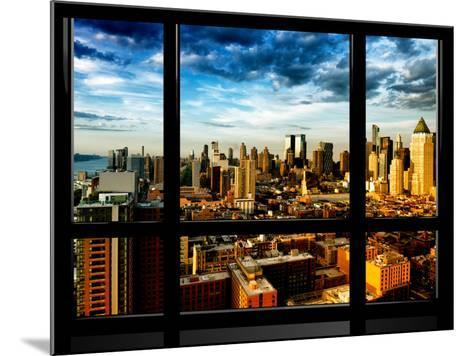 Window View, Landscape at Sunset, Theater District and Hell's Kitchen Views, Manhattan, New York-Philippe Hugonnard-Mounted Photographic Print