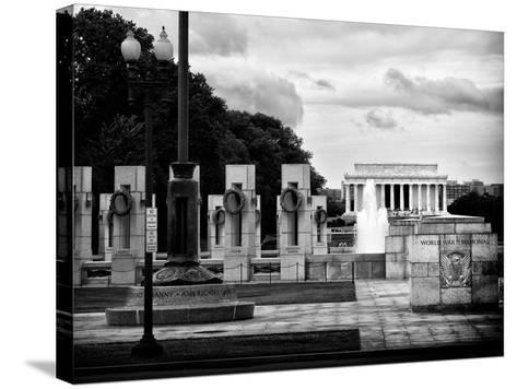 World War Ii Memorial, Washington D.C, District of Columbia, White Frame, Full Size Photography-Philippe Hugonnard-Stretched Canvas Print