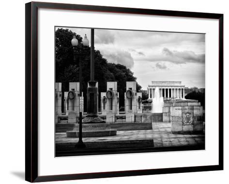 World War Ii Memorial, Washington D.C, District of Columbia, White Frame, Full Size Photography-Philippe Hugonnard-Framed Art Print