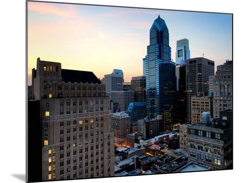 Philly Skyscrapers at Nightfall, Philadelphia, Pennsylvania, United States-Philippe Hugonnard-Mounted Photographic Print