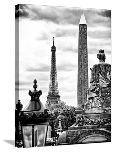 Place De La Concorde with Ancient Obelisk, Hotel Crillon and the Ministry of the Navy, Paris-Philippe Hugonnard-Stretched Canvas Print
