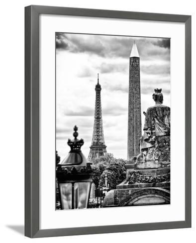 Place De La Concorde with Ancient Obelisk, Hotel Crillon and the Ministry of the Navy, Paris-Philippe Hugonnard-Framed Art Print