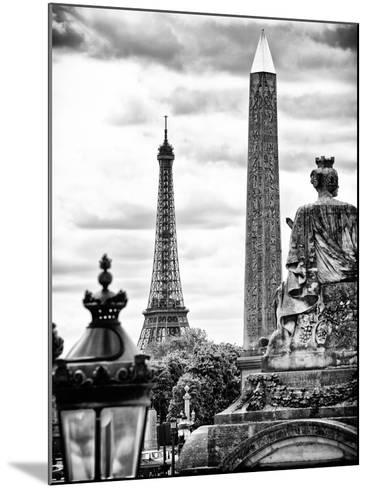 Place De La Concorde with Ancient Obelisk, Hotel Crillon and the Ministry of the Navy, Paris-Philippe Hugonnard-Mounted Photographic Print