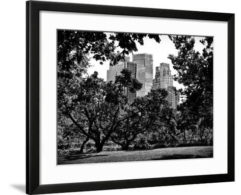 Place for Lovers in Central Park, Manhattan, New York City, Black and White Photography-Philippe Hugonnard-Framed Art Print