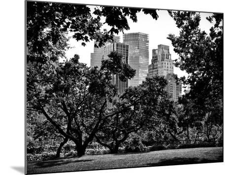 Place for Lovers in Central Park, Manhattan, New York City, Black and White Photography-Philippe Hugonnard-Mounted Photographic Print