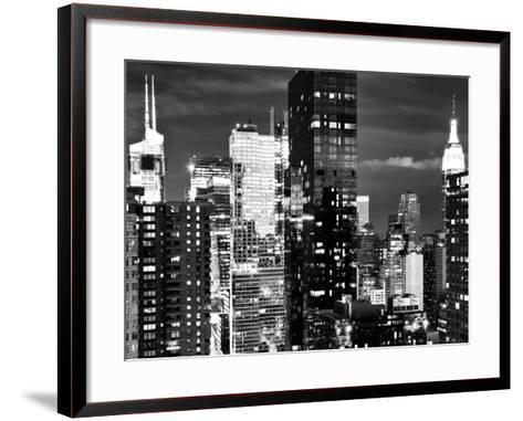 Times Square with Empire State Building, Architecture and Buildings, Manhattan, NYC-Philippe Hugonnard-Framed Art Print