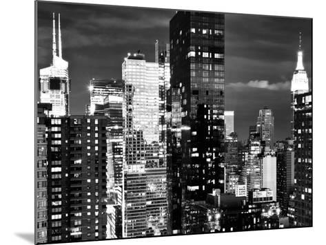 Times Square with Empire State Building, Architecture and Buildings, Manhattan, NYC-Philippe Hugonnard-Mounted Photographic Print