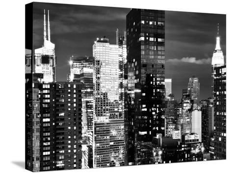 Times Square with Empire State Building, Architecture and Buildings, Manhattan, NYC-Philippe Hugonnard-Stretched Canvas Print