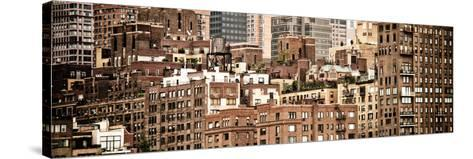 Panoramic Landscape, Sutton Place District, Downtown Manhattan, New York, Vintage-Philippe Hugonnard-Stretched Canvas Print