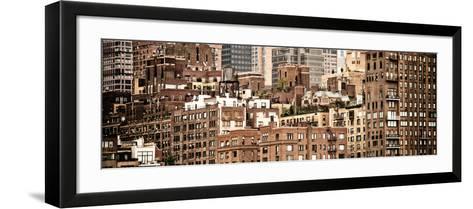 Panoramic Landscape, Sutton Place District, Downtown Manhattan, New York, Vintage-Philippe Hugonnard-Framed Art Print