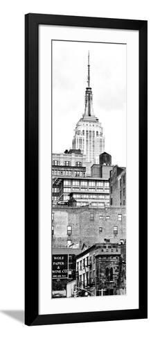 Vertical Panoramic, Architecture and Buildings, Empire State Building, Midtown Manhattan, NYC-Philippe Hugonnard-Framed Art Print