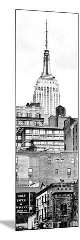 Vertical Panoramic, Architecture and Buildings, Empire State Building, Midtown Manhattan, NYC-Philippe Hugonnard-Mounted Photographic Print