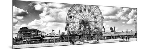 Panoramic View, Vintage Beach, Wonder Wheel, Coney Island, Brooklyn, New York-Philippe Hugonnard-Mounted Photographic Print