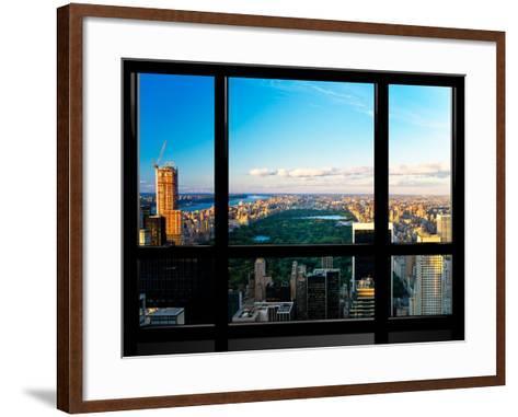 Window View, Special Series, Central Park, Sunset, Manhattan, New York, United States-Philippe Hugonnard-Framed Art Print