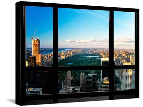 Window View, Special Series, Central Park, Sunset, Manhattan, New York, United States-Philippe Hugonnard-Stretched Canvas Print