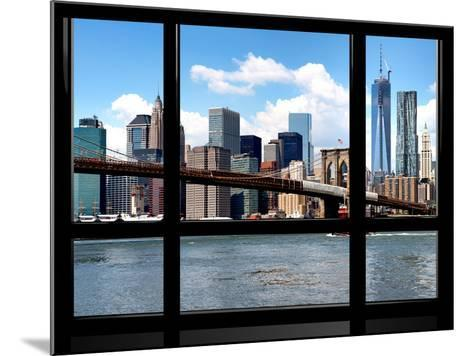 Window View, Manhattan with One World Trade Center (1WTC) and the Brooklyn Bridge, New York-Philippe Hugonnard-Mounted Photographic Print