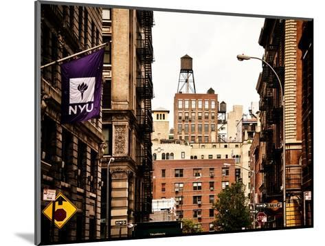 Architecture and Buildings, Greenwich Village, Nyu Flag, Manhattan, New York City, US, Vintage-Philippe Hugonnard-Mounted Photographic Print