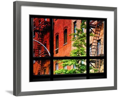 Window View, Special Series, Buildings, Stairs, Emergency, New York, United States-Philippe Hugonnard-Framed Art Print
