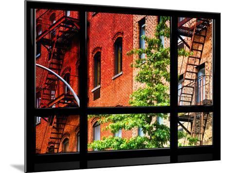 Window View, Special Series, Buildings, Stairs, Emergency, New York, United States-Philippe Hugonnard-Mounted Photographic Print