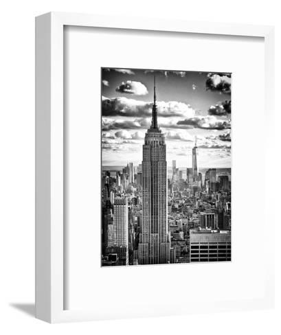 Cityscape, Empire State Building and One World Trade Center, Manhattan, NYC-Philippe Hugonnard-Framed Art Print