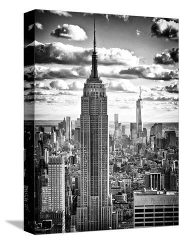 Cityscape, Empire State Building and One World Trade Center, Manhattan, NYC-Philippe Hugonnard-Stretched Canvas Print