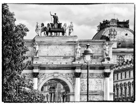 Arc De Triomphe du Carrousel, the Louvre Museum, Paris, France-Philippe Hugonnard-Stretched Canvas Print
